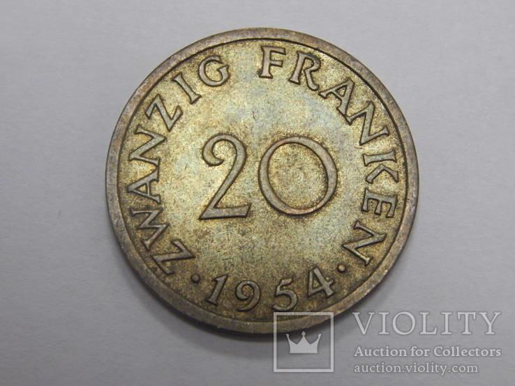 20 франков, 1954 г Саар