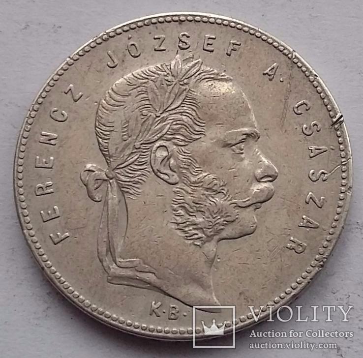 1 Флорин 1869 К В Ангела
