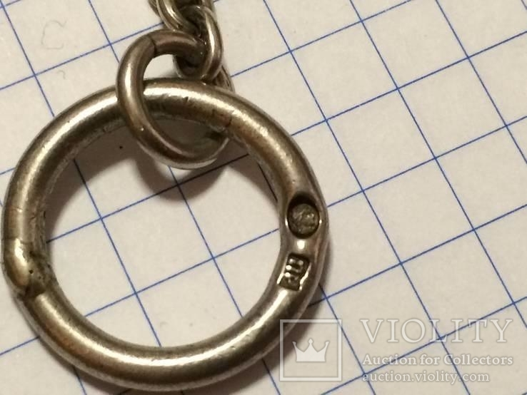 Театральная дамская сумочка кальчужка серебро 84 проба 319 грамм, фото №7