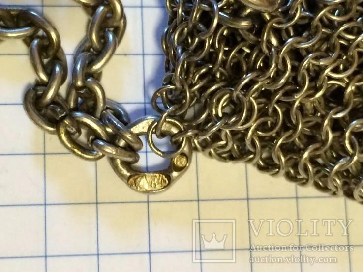 Театральная дамская сумочка кальчужка серебро 84 проба 319 грамм, фото №8