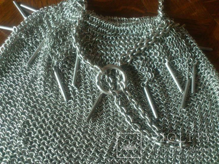 Театральная дамская сумочка кальчужка серебро 84 проба 319 грамм, фото №13