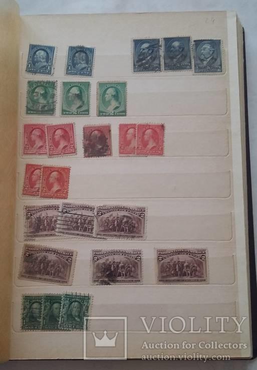 Марки США 656 шт 1892 - 1950 гг  с 1 грн