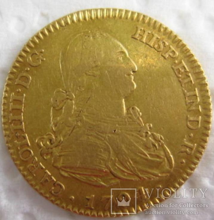 2 эскудо 1794 г золото) АU, 6,80 гр