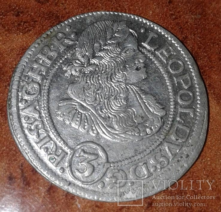 Трояк 1670г