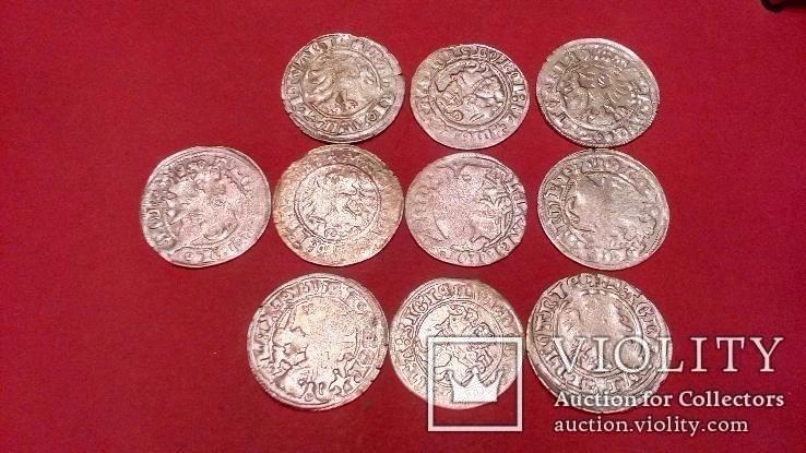 Монеты серебро. Александра Ягелончика и Сигизмунда 1