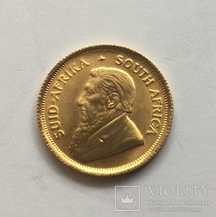 1 ранд 1980 год ЮАР золото 3,99 грамм 917`