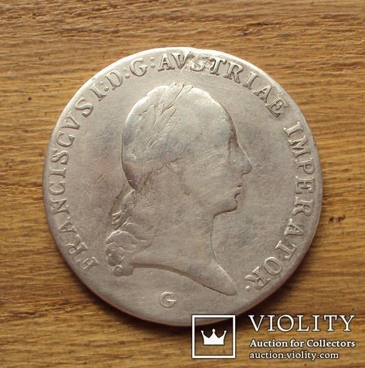 Австрия талер 1814 г серебро 27,37 г