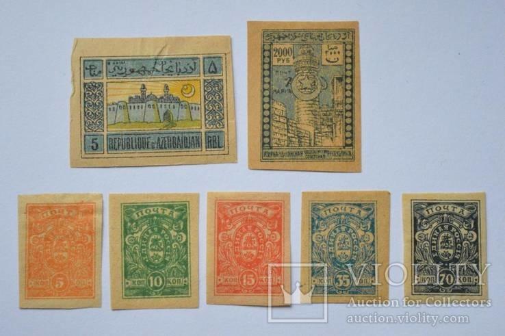 Почтовые марки  периода  Гражданской войны