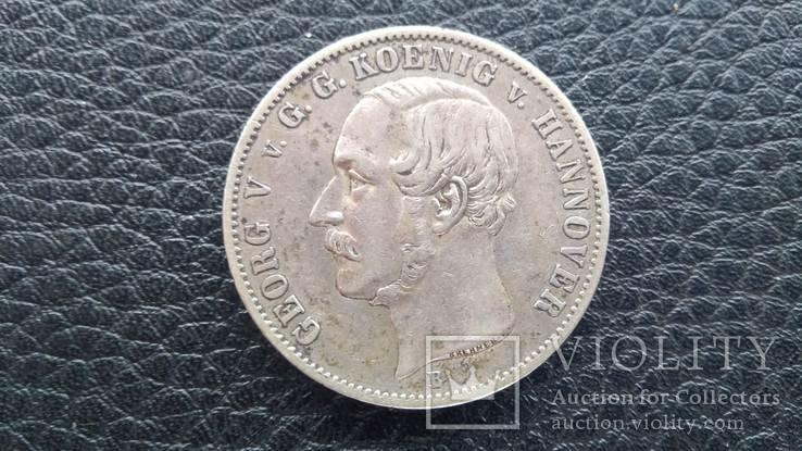 Талер Германия Ганновер 1855 г . вес - 22.3 гр.