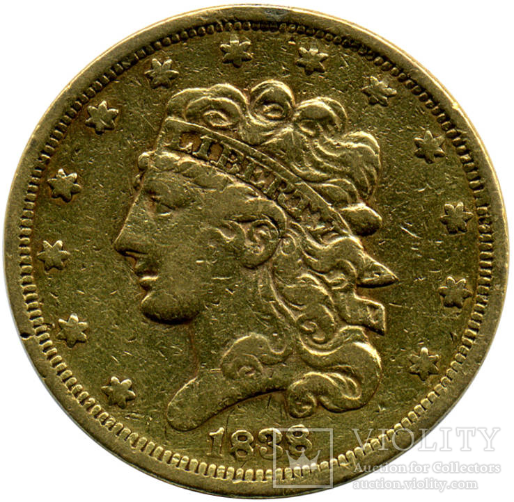 5 Долларов 1838г. США