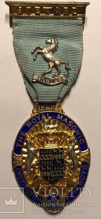 Масонский знак Управляющего RMIB, 1940г, серебро