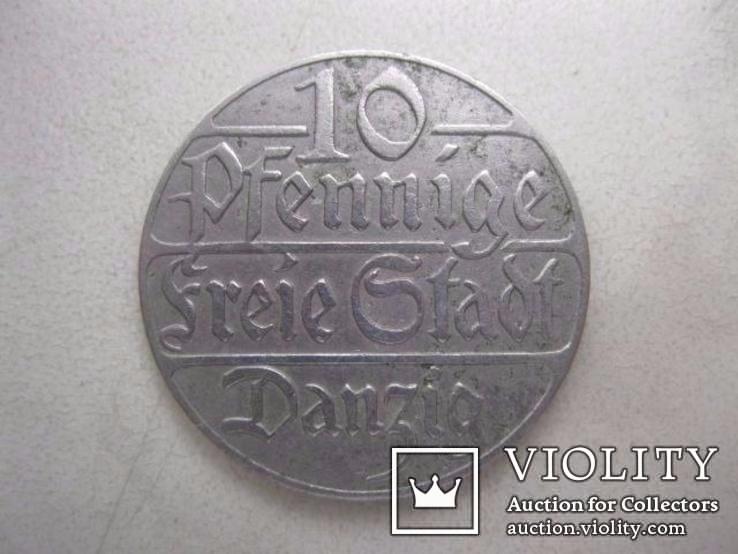 10 пфеннигов 1923 год Данциг