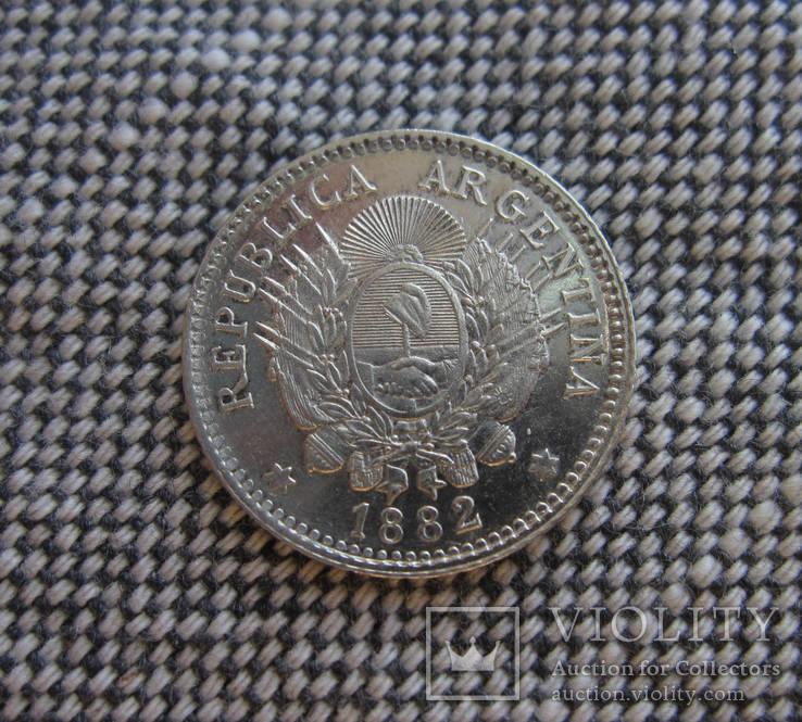 Аргентина 10 центавос 1882