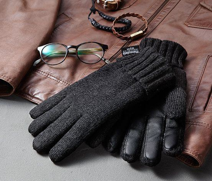 Теплые мужские перчатки Thinsulate Tchibo Германия, размер 8,5