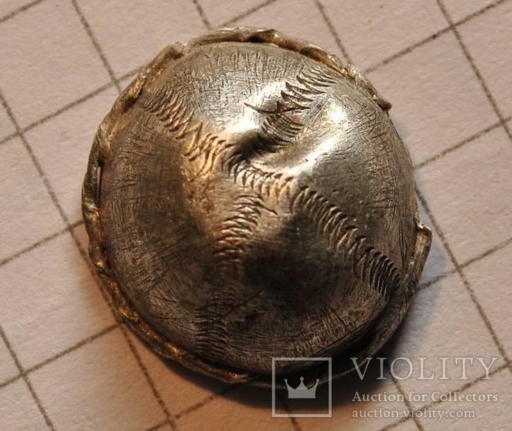 Пронизь (половина) серебряная с орнаментом, ЧК