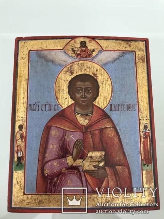 Икона Святой Пантелеимон 19 век