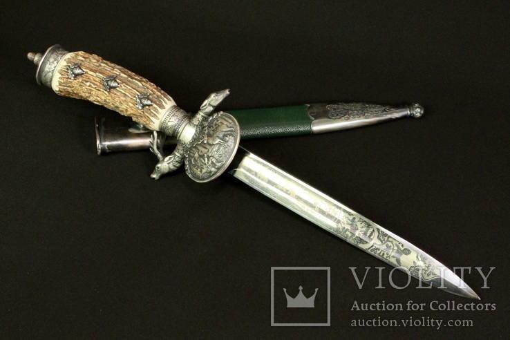 Немецкий охотничий нож. Хиршфангер. Hubertus Solingen. Германия. (0229)