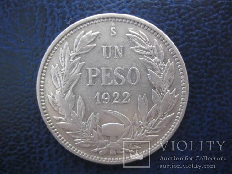 1 песо 1922 год Чили