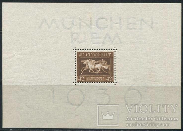 1936 Рейх скачки блок лошади кони