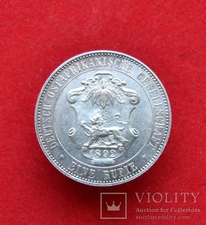 1 рупия Германская Восточная Африка 1892 г. Серебро.