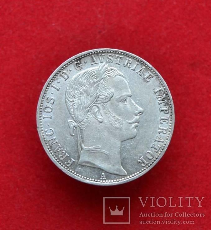 1 флорин Австро-Венгрия 1860 г.