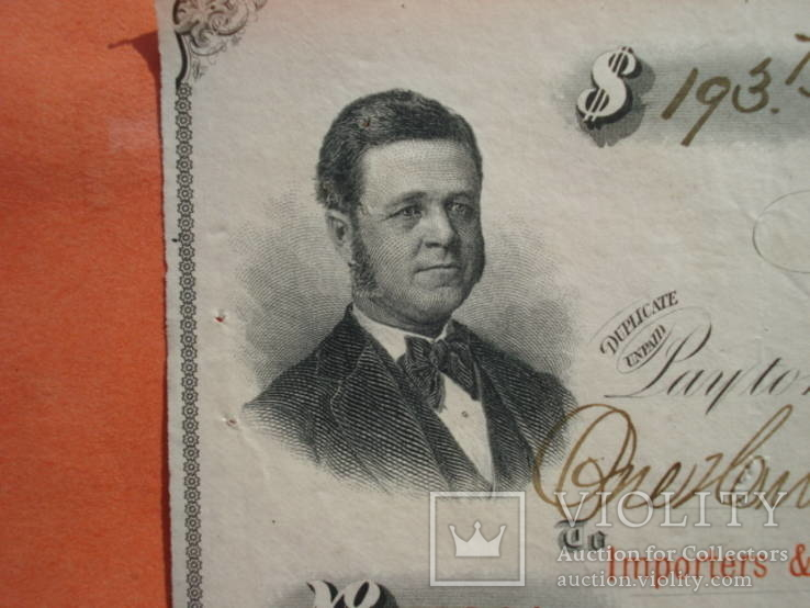 США чек 1875 год на 193,75$