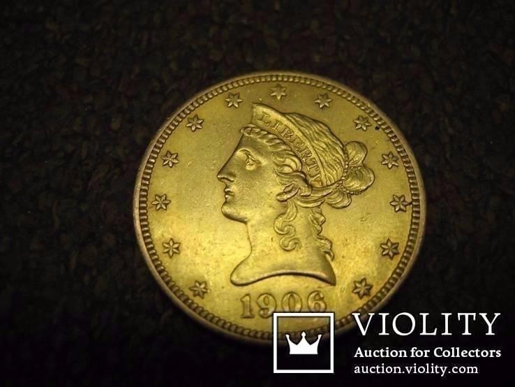 10 Долларов 1906 года