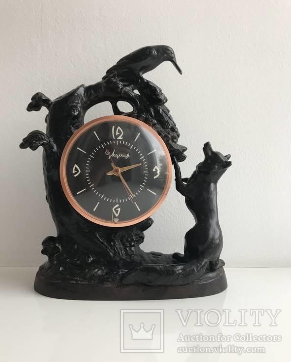 Часы ворона и лиса. Касли 1967г.