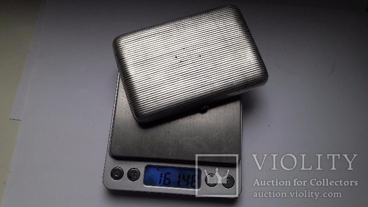 Портсигар серебро 84 проба, фото №3