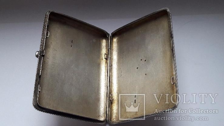 Портсигар серебро 84 проба, фото №7