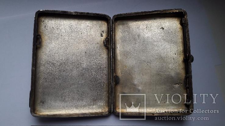 Портсигар серебро 84 проба, фото №10