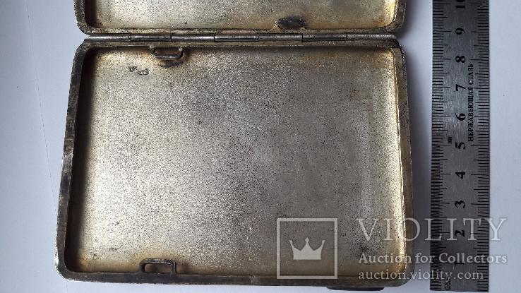 Портсигар серебро 84 проба, фото №11