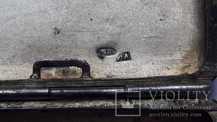 Портсигар серебро 84 проба, фото №13
