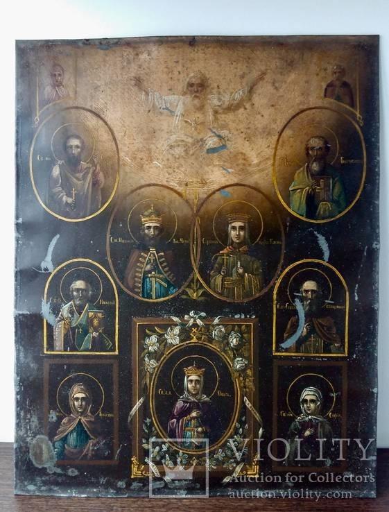 Икона Св. Княгиня Ольга с избранными Святыми