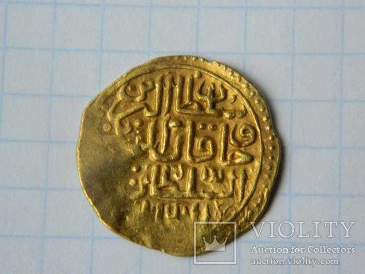 Золотой султани султана Ахмеда 1-го, чеканка Мисра.
