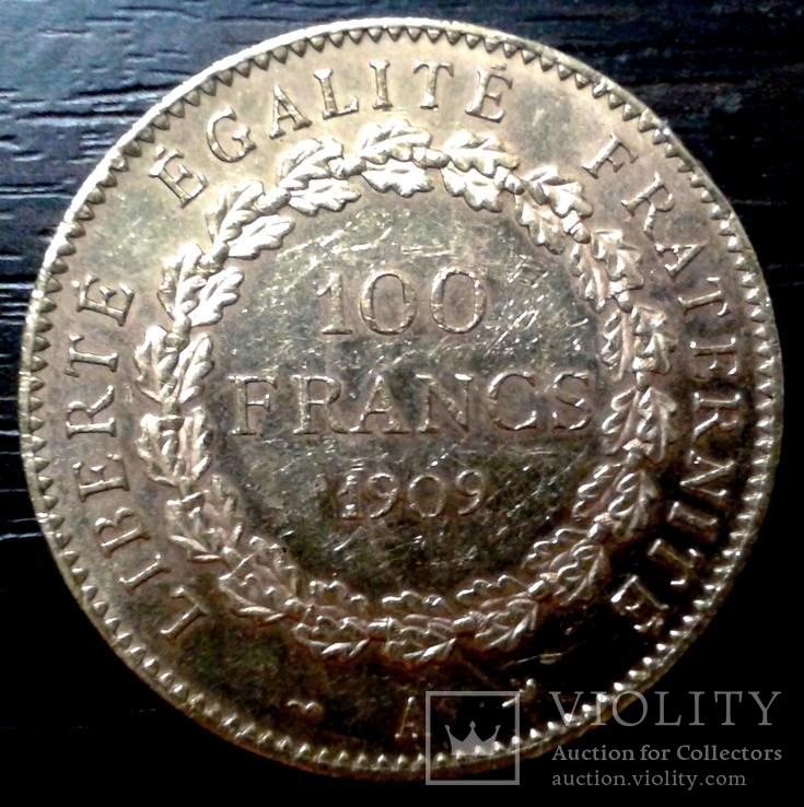 100 франков 1909 г. Франция. Ангел.