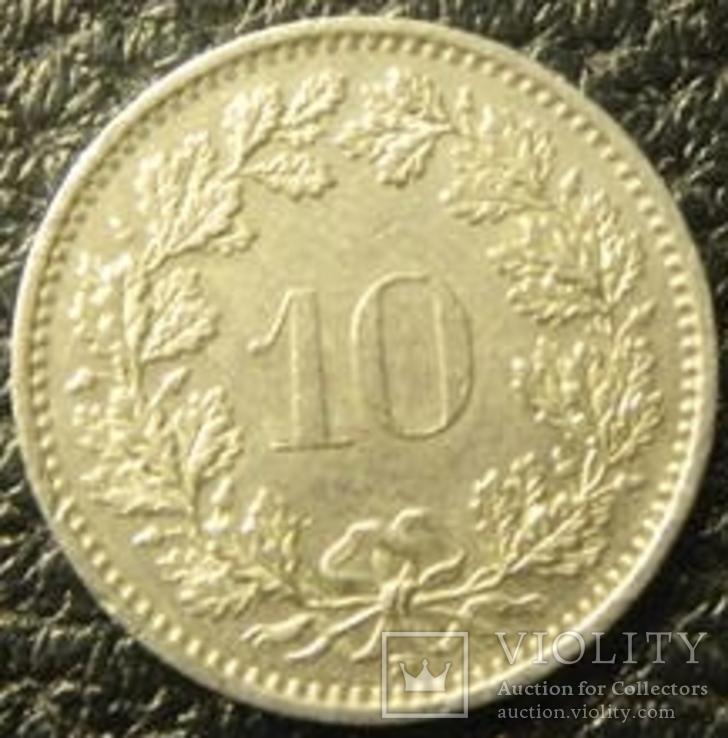 10 рапенів Швейцарія 1993 B, фото №3