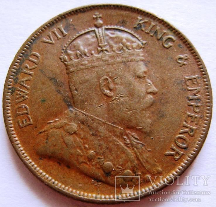 Стрейт Сеттлемент, 1 пенни 1903, Эдвард VII, фото №2