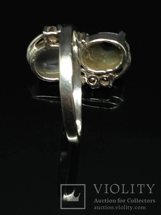 Набор из кольца, серег и кулона с камнями, фото №6