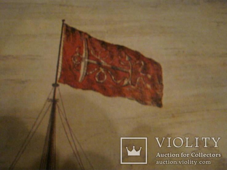 Плакат С Видом морской баталии, фото №9