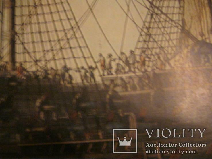 Плакат С Видом морской баталии, фото №11