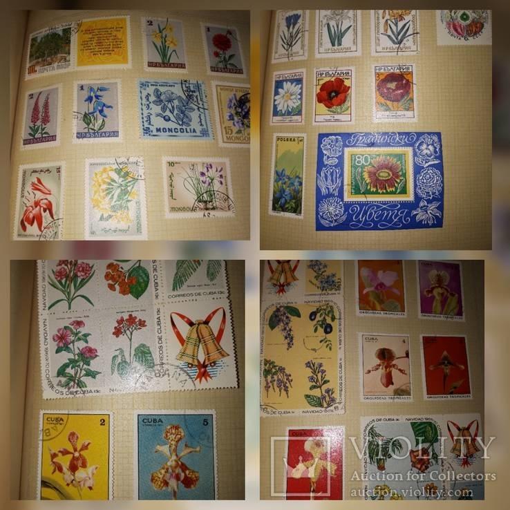 Альбом с марками СССР и других стран 630шт