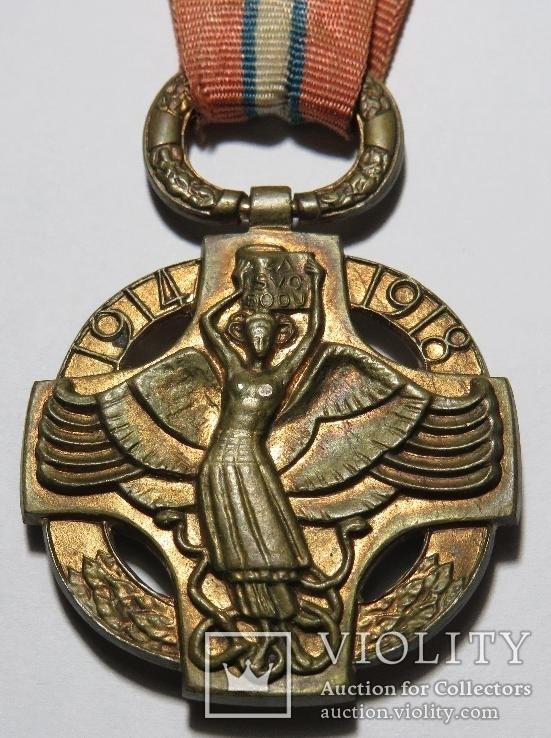 Чехословацкая революционная медаль, 1918 года., фото №5
