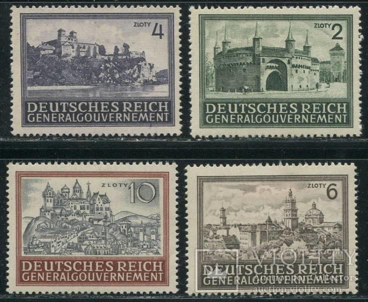 Рейх  генералгубернаторство полная серия города Львов замки