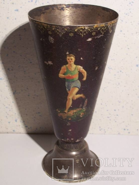 Кубок спортивный , Палех, серебро 258грамм, 1950 год