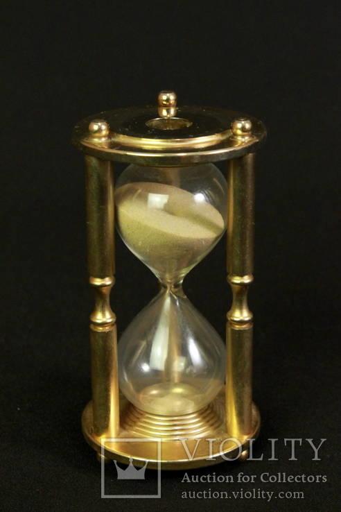 Часы песочные. Винтаж. Латунь. Европа. Без резерва (0368)