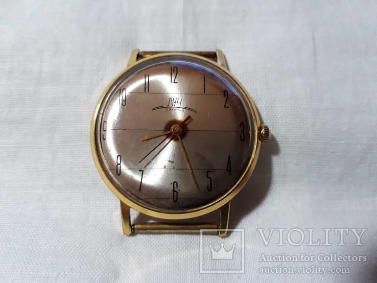 Позолоченные часы Луч, тонкие