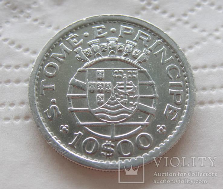 Португальский Сан-Томе и Принсипи 10 эскудо 1951 тираж 40 000