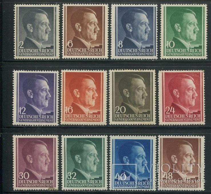 1941 Рейх Генералгубернатоство полная серия гитлер MNH ** / МН *