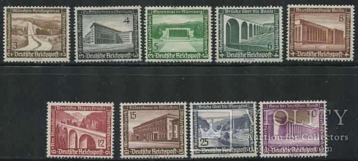 1936 Рейх  полная серия архитектура мосты